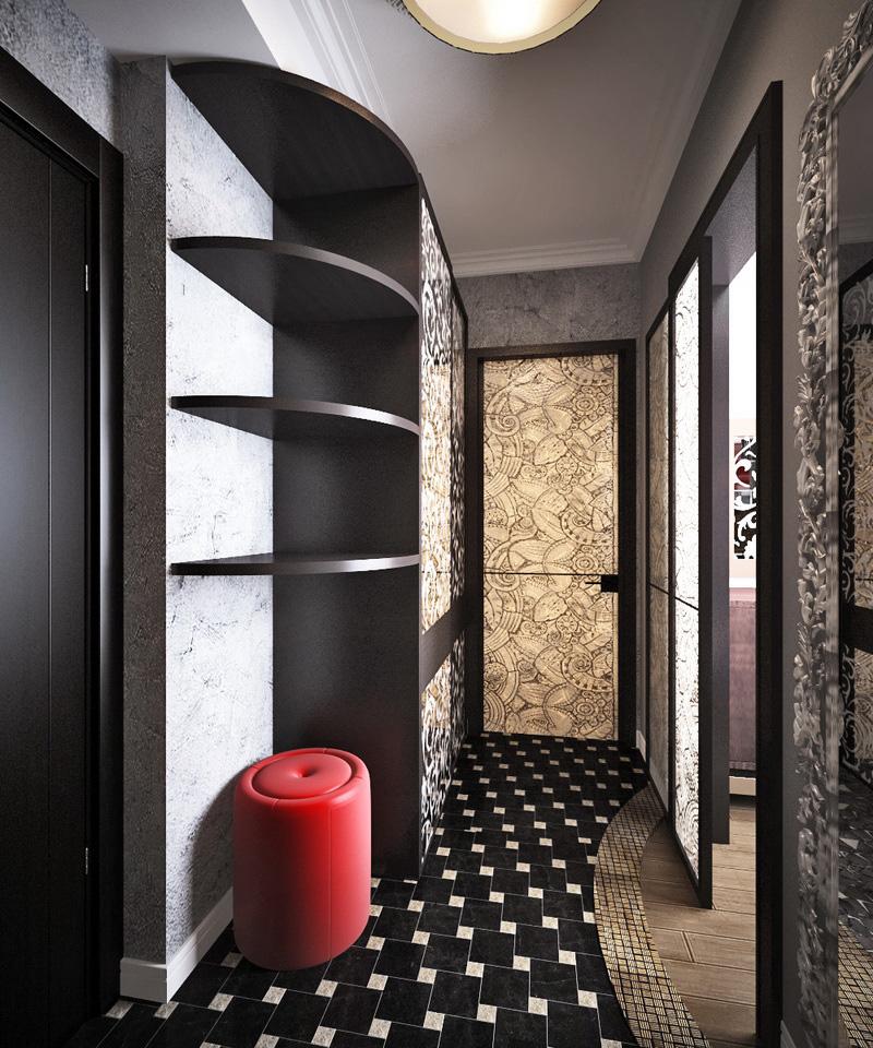 дизайн интерьера коридора квартиры
