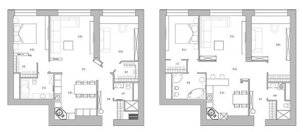 планировка квартиры 92