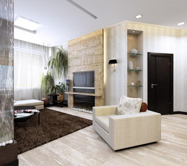 интерьер гостиной 3