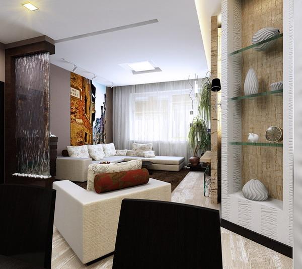 интерьер гостиной 2