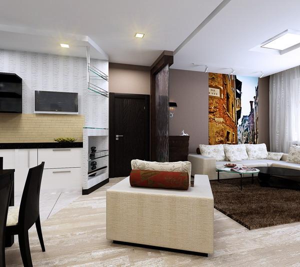 интерьер гостиной 1